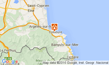 Map Collioure Apartment 103405