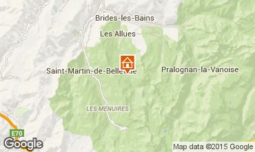 Map Méribel Apartment 73623