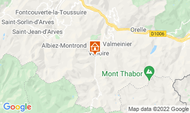 Map Valloire Vacation rental 31573