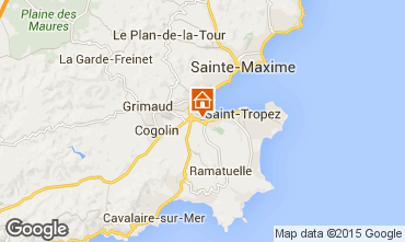 Map Saint Tropez Villa 10266