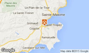 Map Saint Tropez Villa 10266