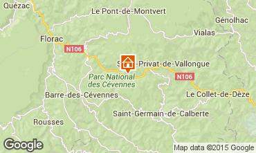 Map Florac Vacation rental 50858