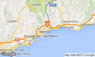 Map Menton Vacation rental 5408