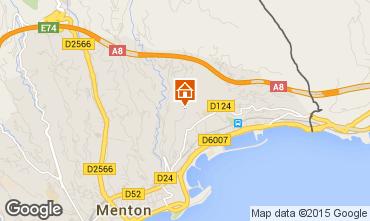 Map Menton Vacation rental 5408