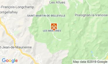 Map Les Menuires One-room apartment 112436