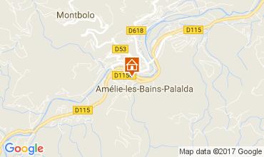 Map Amélie-Les-Bains One-room apartment 112815