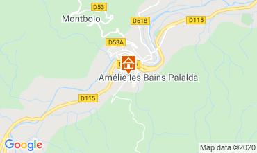 Map Amélie-Les-Bains One-room apartment 101149