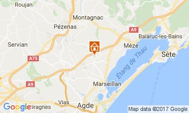 Map Cap d'Agde Villa 110387