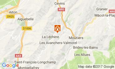 Map Valmorel Chalet 111890