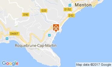 Map Roquebrune Cap Martin One-room apartment 15061