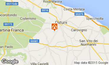Map Ostuni Unusual accommodation 92423