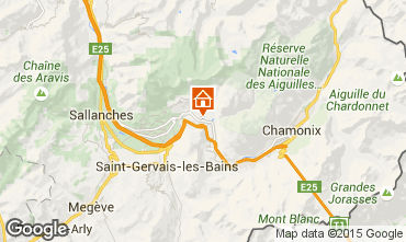 Map Chamonix Mont-Blanc Apartment 689