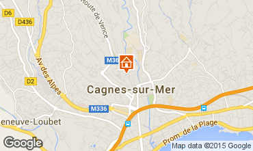 Map Cagnes sur Mer One-room apartment 68101
