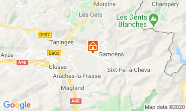 Map Morillon Grand Massif Chalet 40631