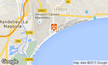Map Cannes One-room apartment 5505