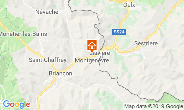 Map Montgenevre Apartment 82860
