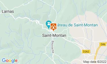 Map Saint-Montan Vacation rental 63339