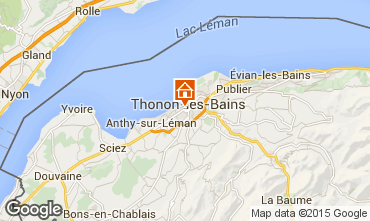 Map Thonon Les Bains Apartment 101933