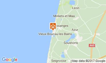 Map Vieux Boucau Bungalow 61605
