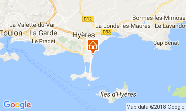 Map Hyères One-room apartment 107873