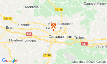 Map Carcassonne Vacation rental 107439