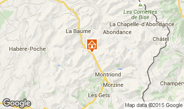 Map Morzine Apartment 85400