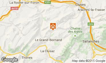 Map Le Grand Bornand Apartment 68126