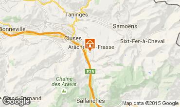Map Les Carroz d'Araches Apartment 59084
