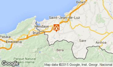 Map Saint Jean de Luz Apartment 9299