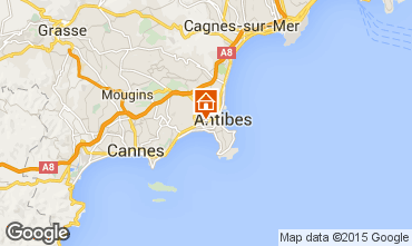 Map Juan les Pins Villa 10378