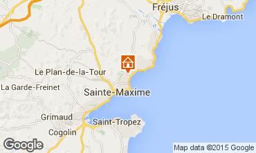 Map Sainte Maxime Apartment 70898