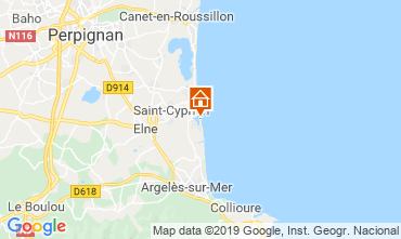 Map Saint Cyprien Plage Apartment 82254