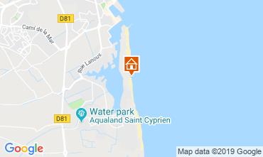 Map Saint Cyprien Plage Apartment 82254