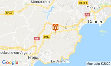 Map Mandelieu la Napoule Apartment 73716
