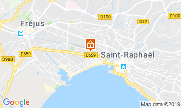 Map Fréjus Apartment 119764