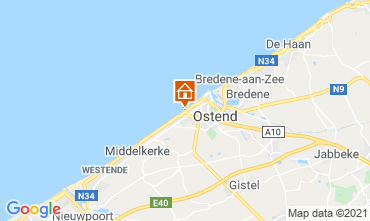 Map Ostend One-room apartment 9588