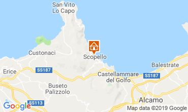 Map Scopello Apartment 112787