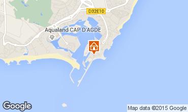 Map Cap d'Agde Apartment 42499