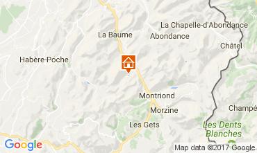 Map Saint Jean d'Aulps- La Grande Terche Chalet 100964