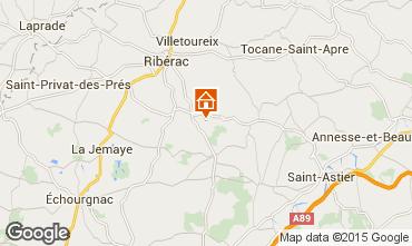 Map Périgueux Vacation rental 89870