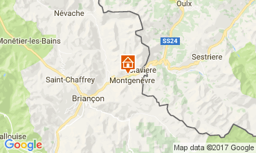 Map Montgenevre Apartment 95754