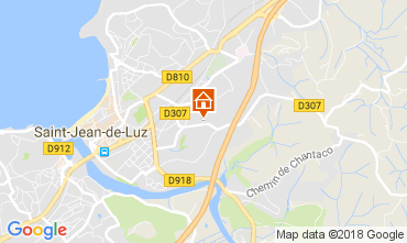 Map Saint Jean de Luz Apartment 112867