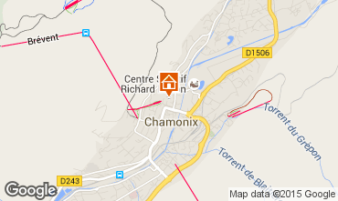 Map Chamonix Mont-Blanc Apartment 66847
