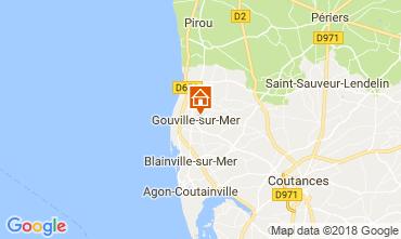 Map Gouville sur Mer Vacation rental 97855
