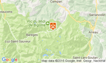Map La Mongie Apartment 107350