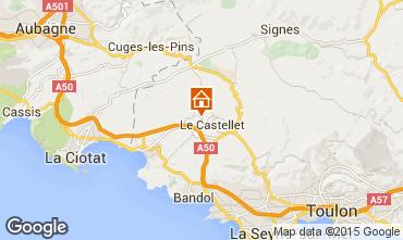 Map Le Castellet Villa 95709