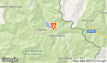 Map Val d'Isère Apartment 3351