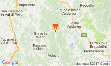 Map Greve in Chianti Apartment 104392