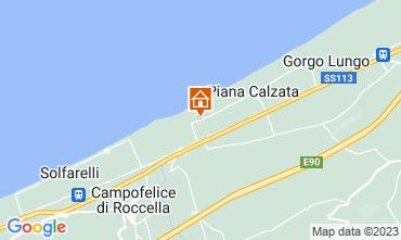 Map Campofelice di Roccella Villa 119074