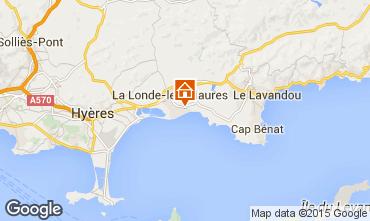 Map La Londe les Maures Apartment 68566
